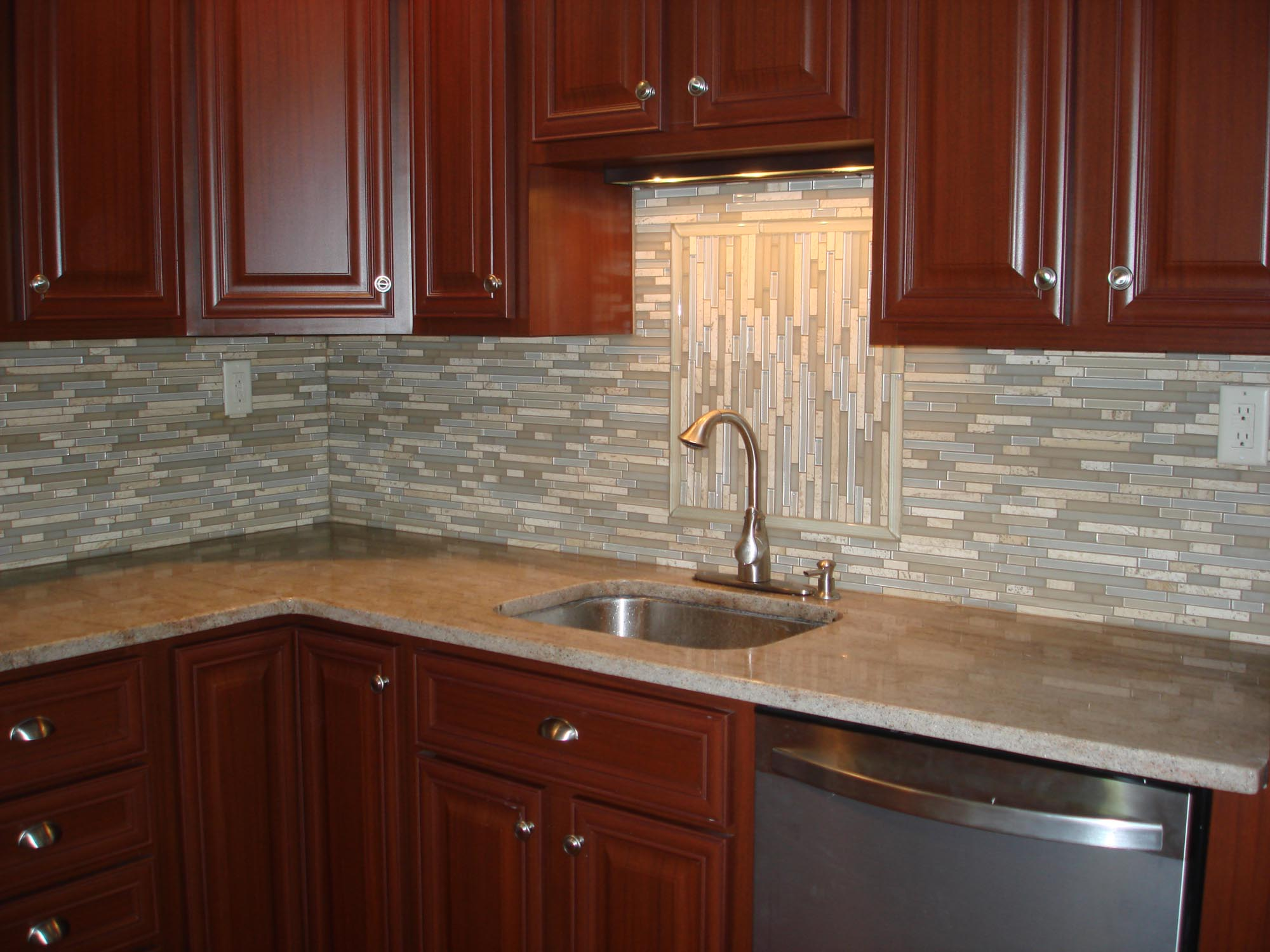glass and stone backsplash new jersey custom tile