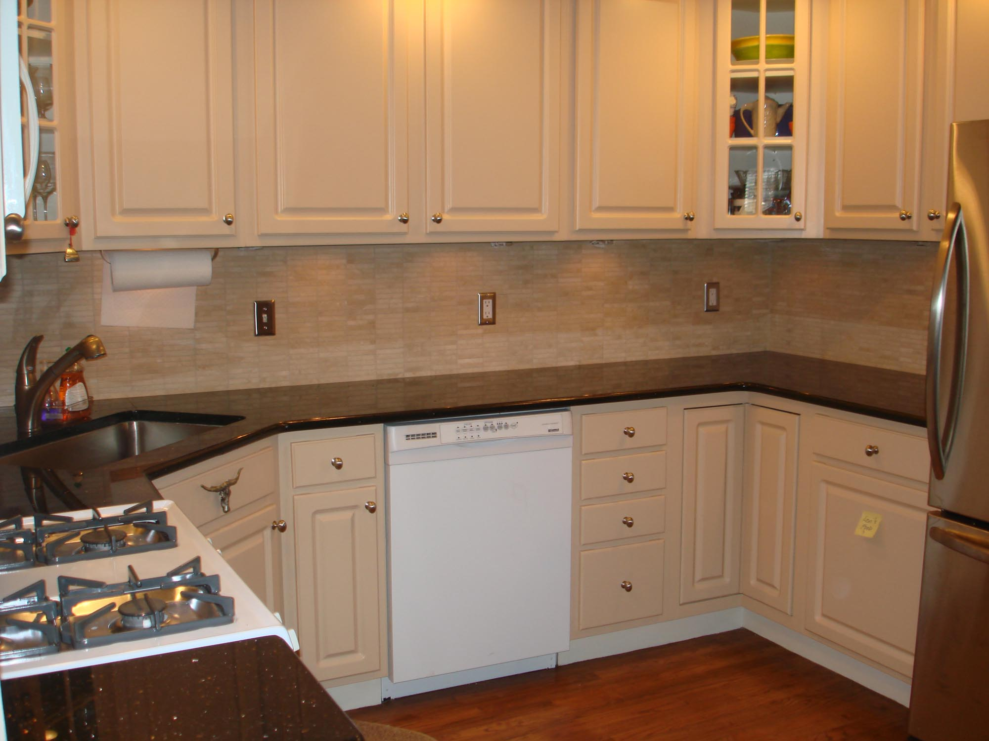 Marble mossaic kitchen backsplash new jersey custom tile - Custom kitchen backsplash tiles ...