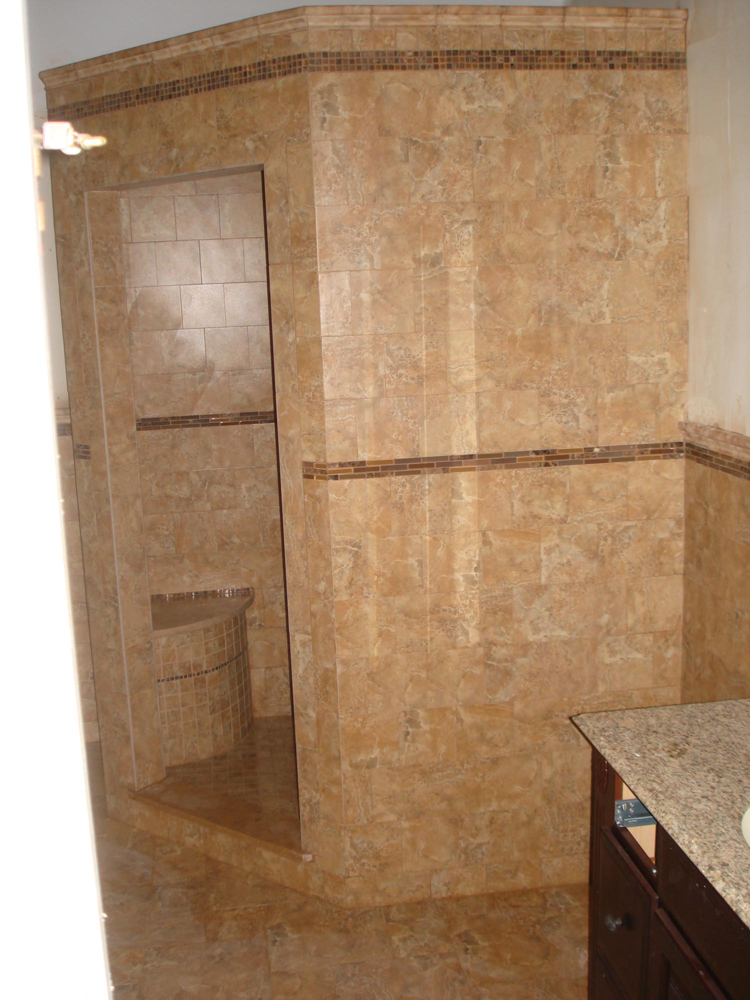 New Tile Shower Master Bath