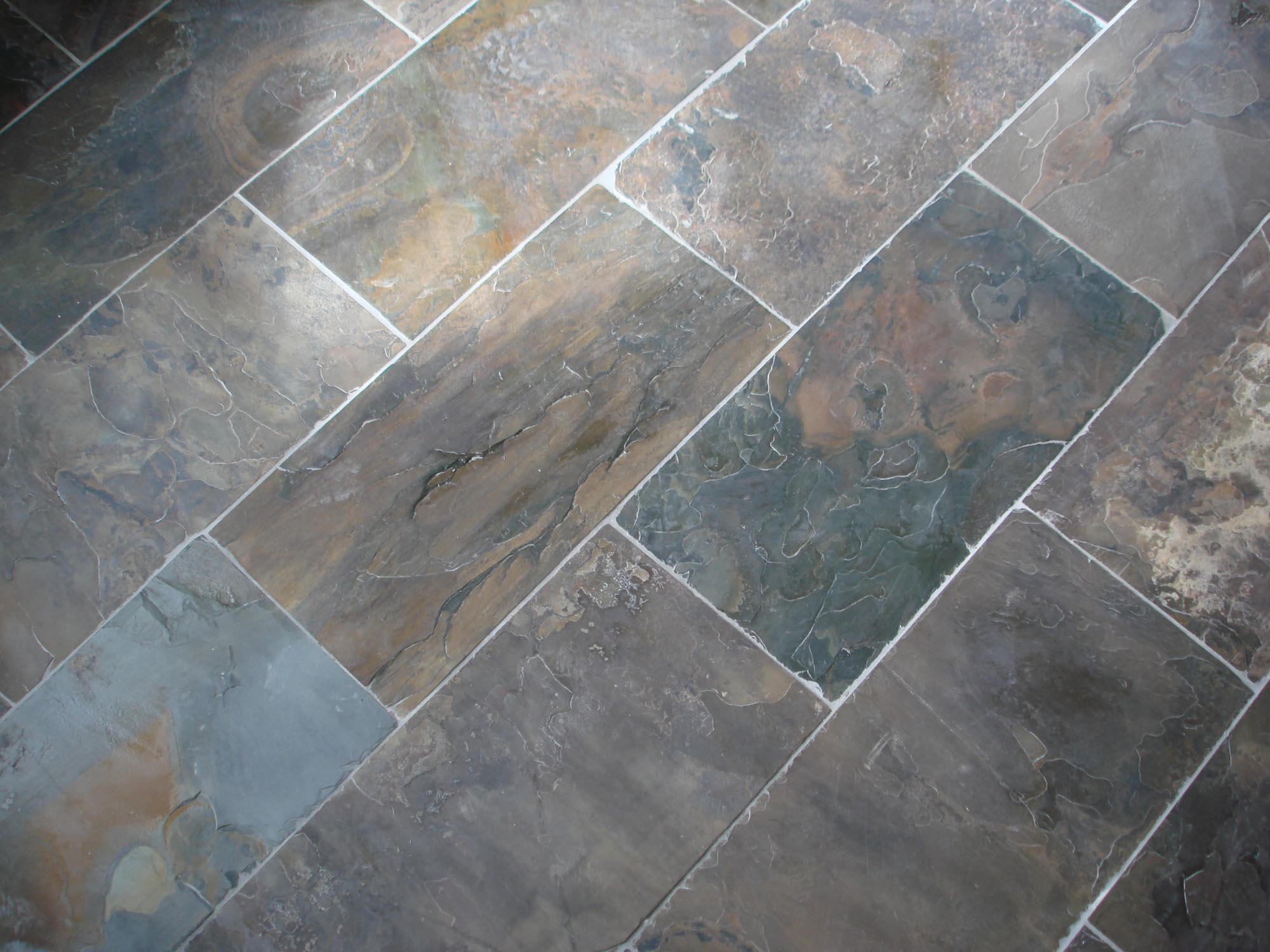 Slate Tile Floor Display New Jersey Custom Tile
