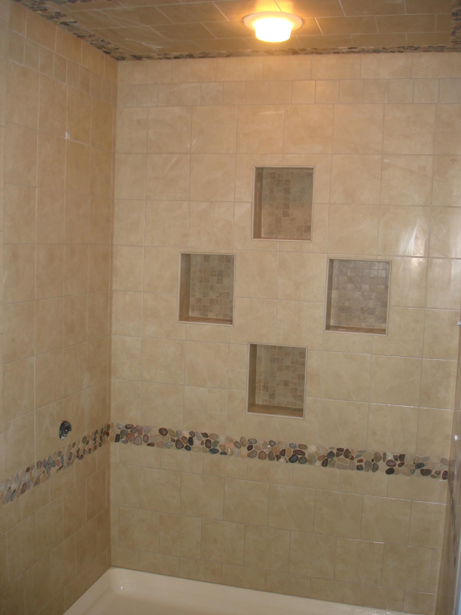 Tile Shower With Four Niches New Jersey Custom Tile