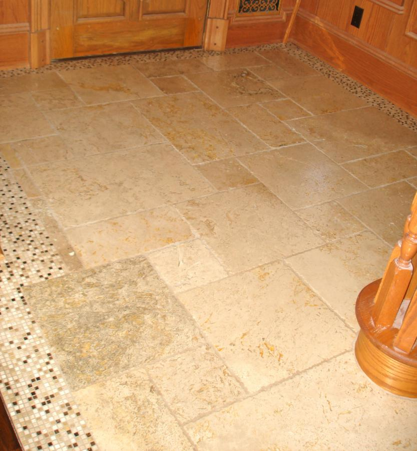 Foyer Flooring Nj : Foyer floor tumbled marble new jersey custom tile