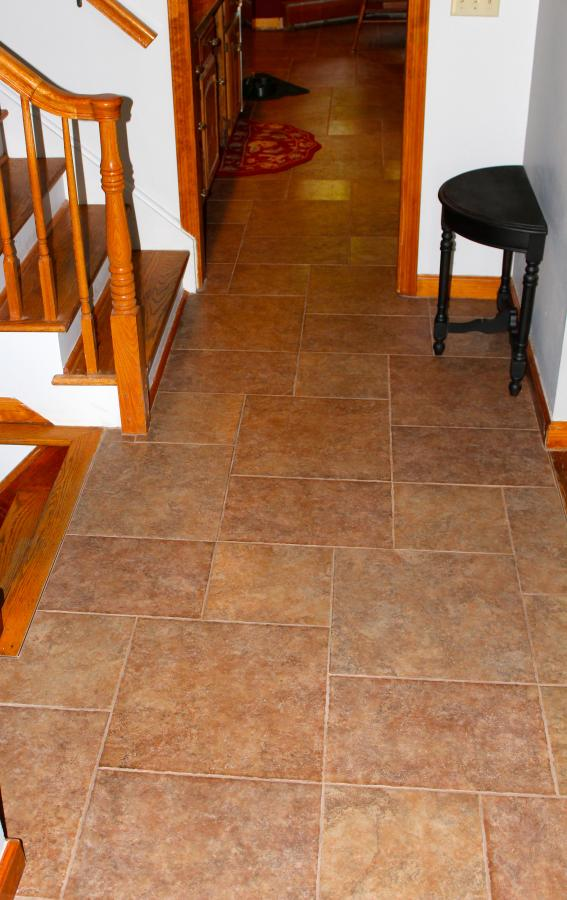 Foyer Flooring Nj : Foyer and kitchen tile floor new jersey custom