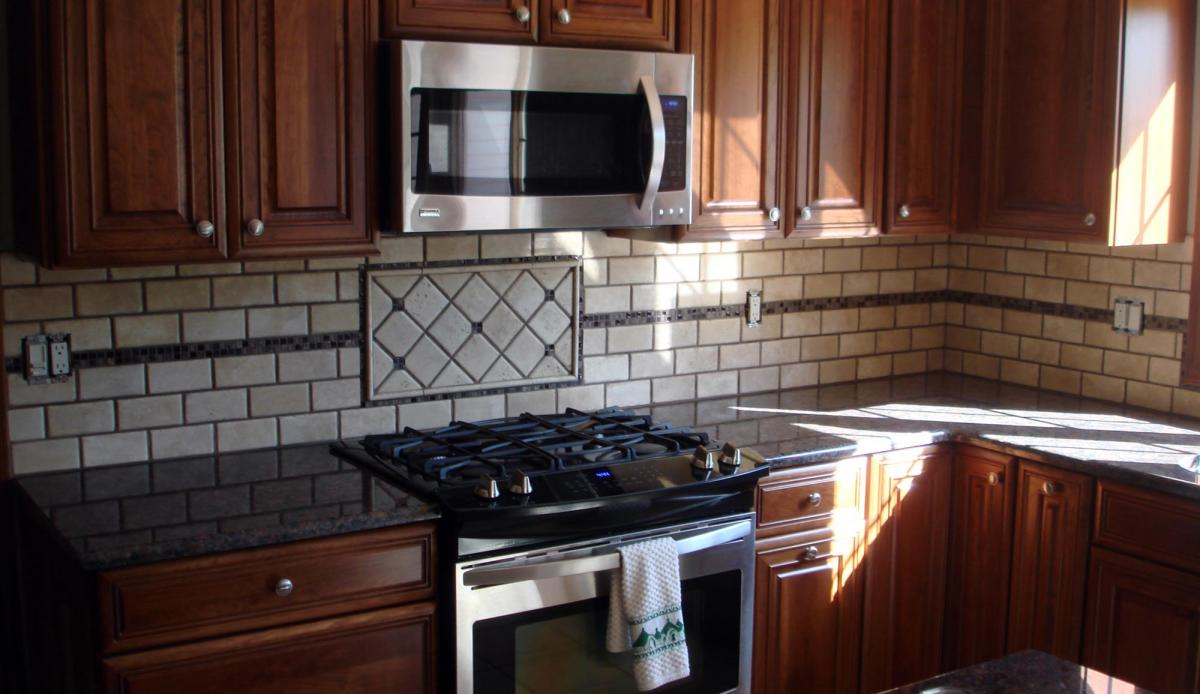 backsplash with glass mosaic border new jersey custom tile steel backsplash for kitchen and bathroom metal and glass mosaic tile