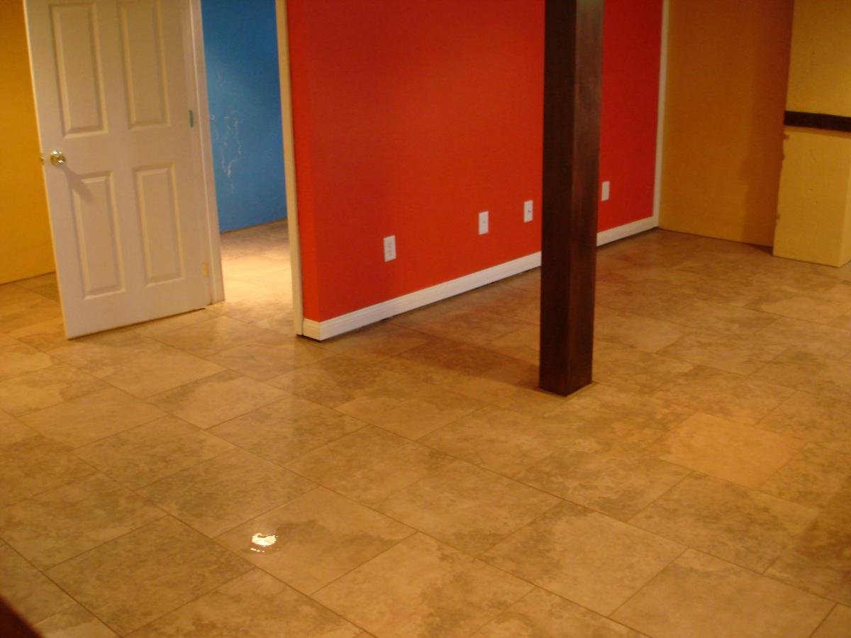 Interlocking floor tiles for basement