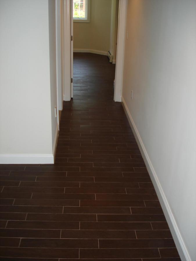 Wood Tile Floor Set On Thirds To Mimmic A Wood Floor Layout