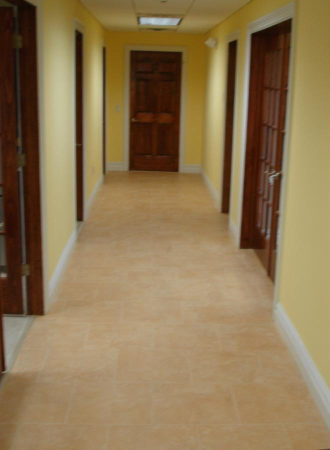 office tile hallway floor new jersey custom tile