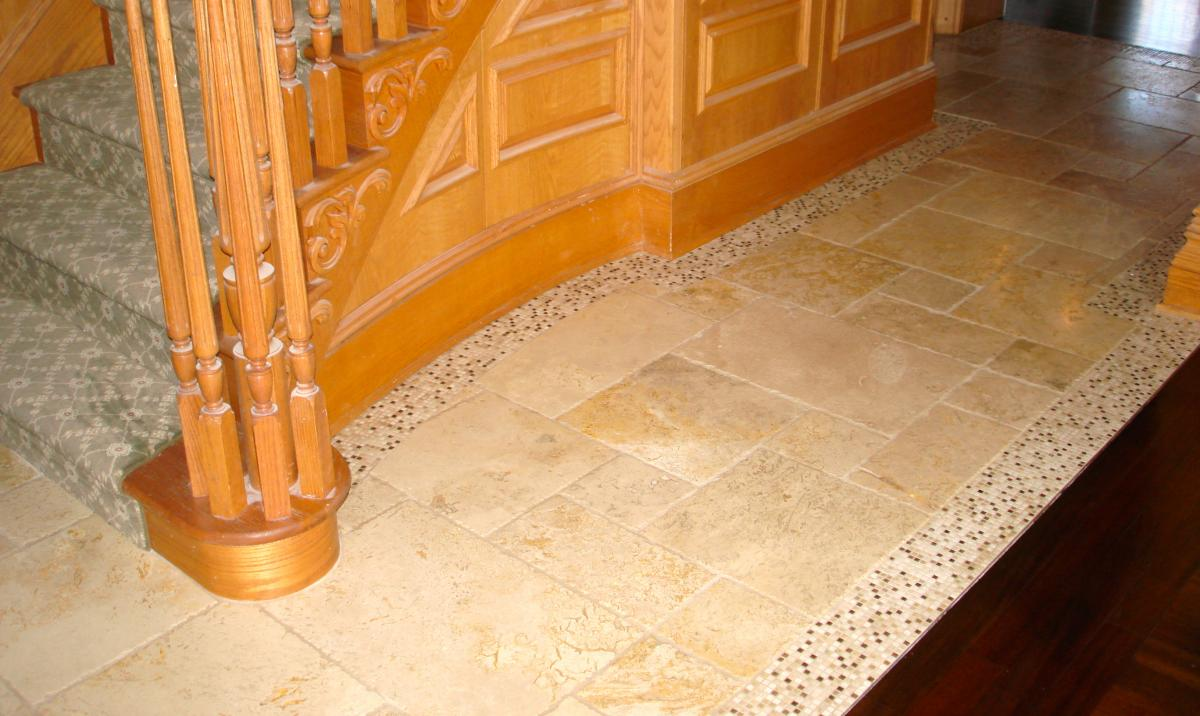 Foyer Flooring Nj : How install marble tile floor tumbled stone entryway the
