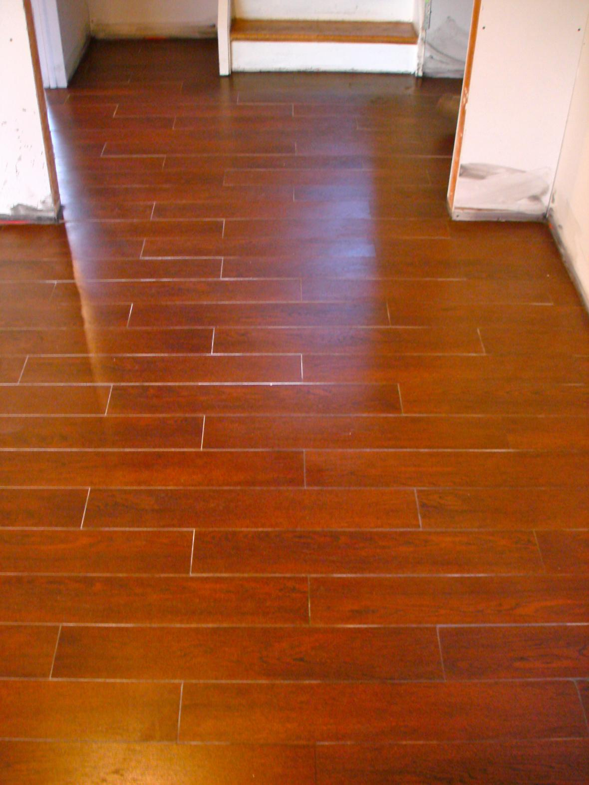 Basement Floor Wood Tile New Jersey Custom Tile