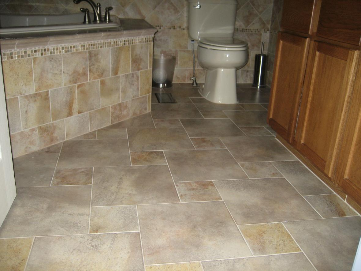 About Completed Porcelain Tile Floor With A Pinwheel Pattern Layout