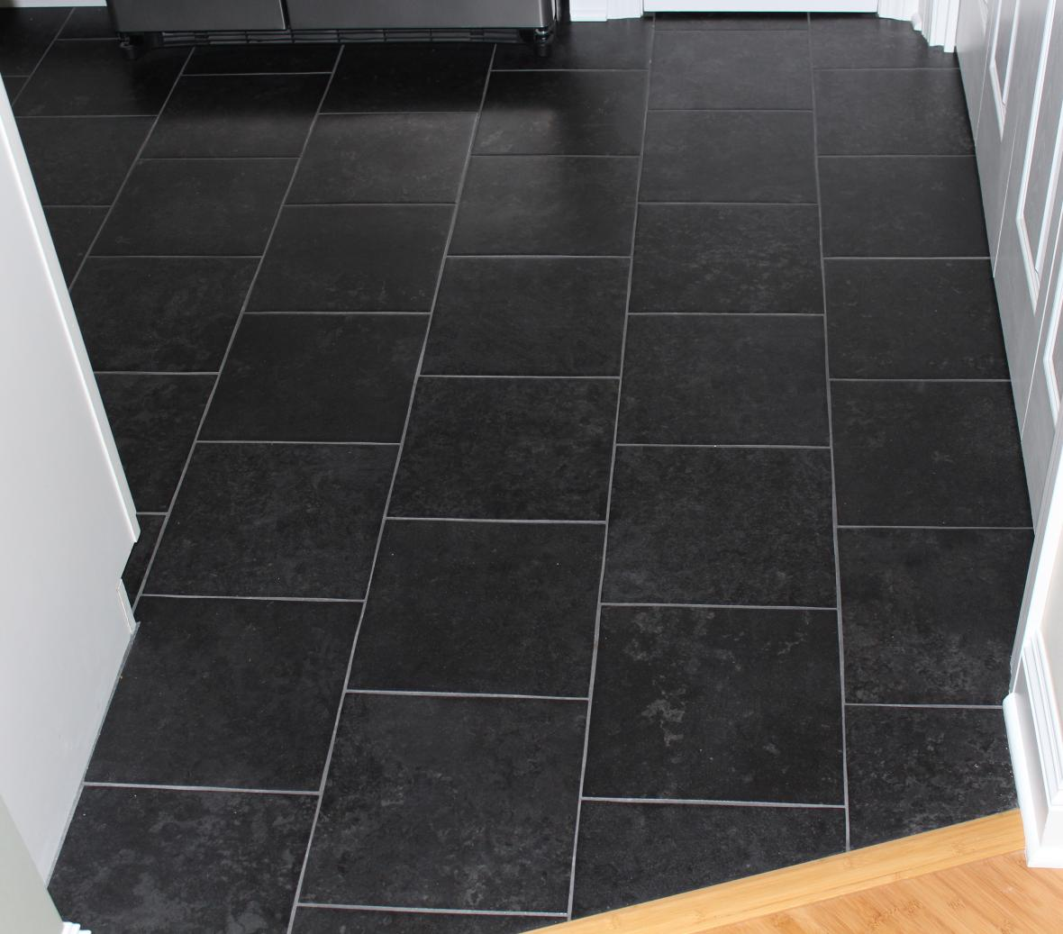 Kitchen floors new jersey custom tile for Black floor tiles for kitchen