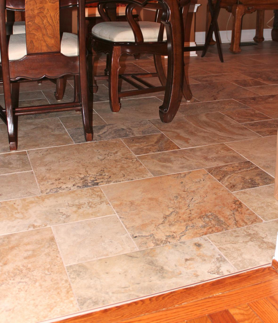 Dining Room Flooring: New Jersey Custom Tile