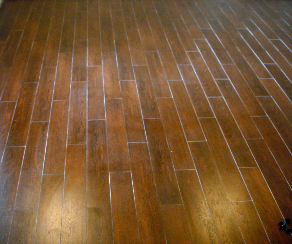 Family Room Wood Tile Floor New Jersey Custom Tile