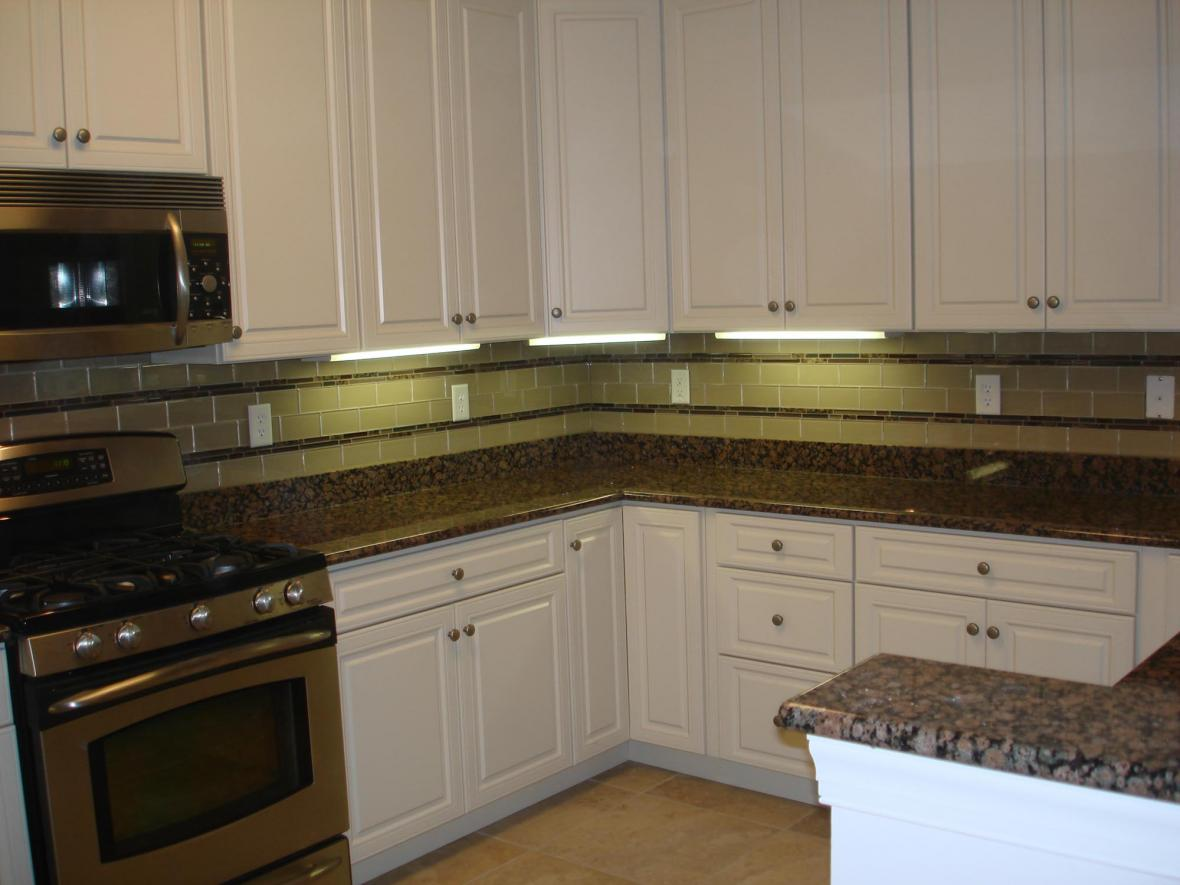 about glass 3x6 kitchen tile backsplash with two granite and glass