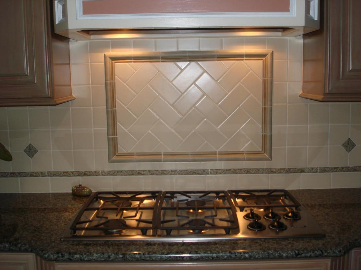 Handmade ceramic kitchen backsplash