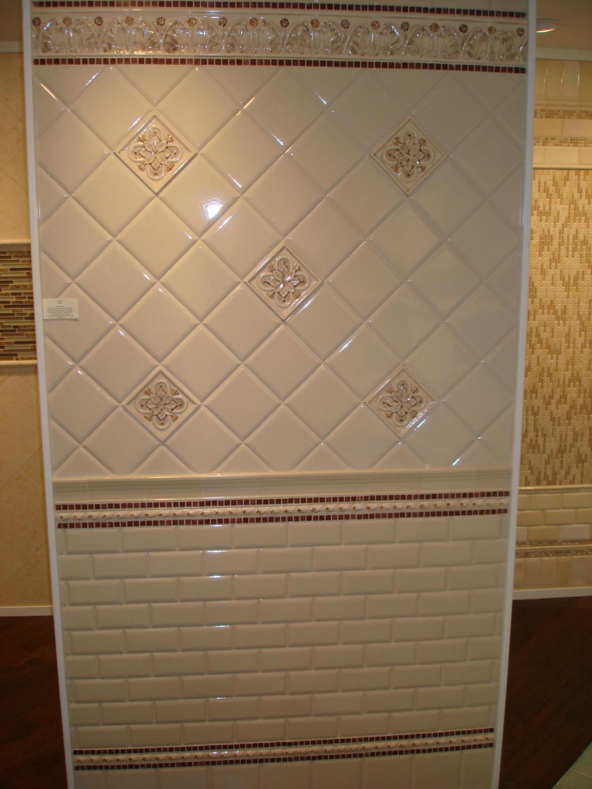 Handpainted tile display