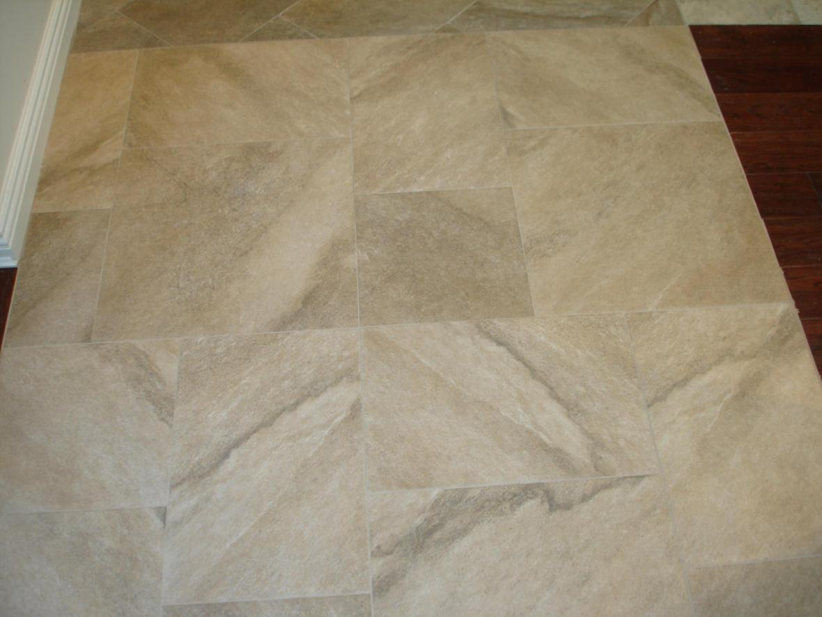 Limestone multiple tile pattern
