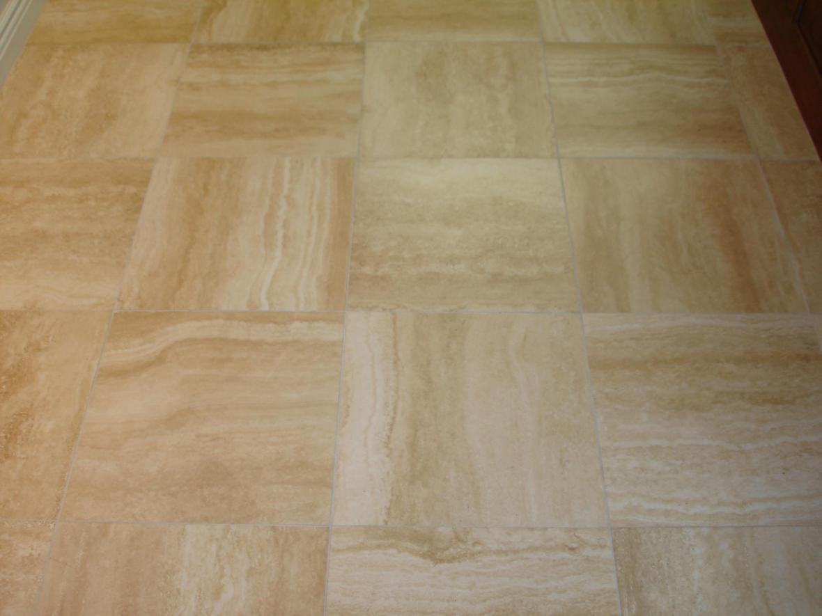 Porcelain tile 16x16 alternate straight pattern