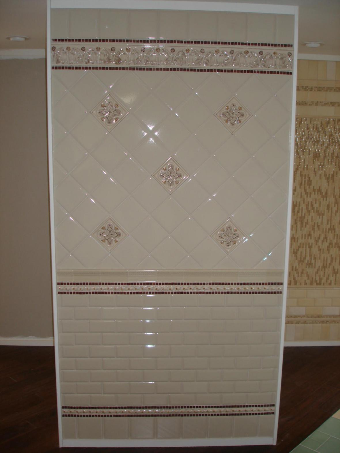 Porcelain tile wall display