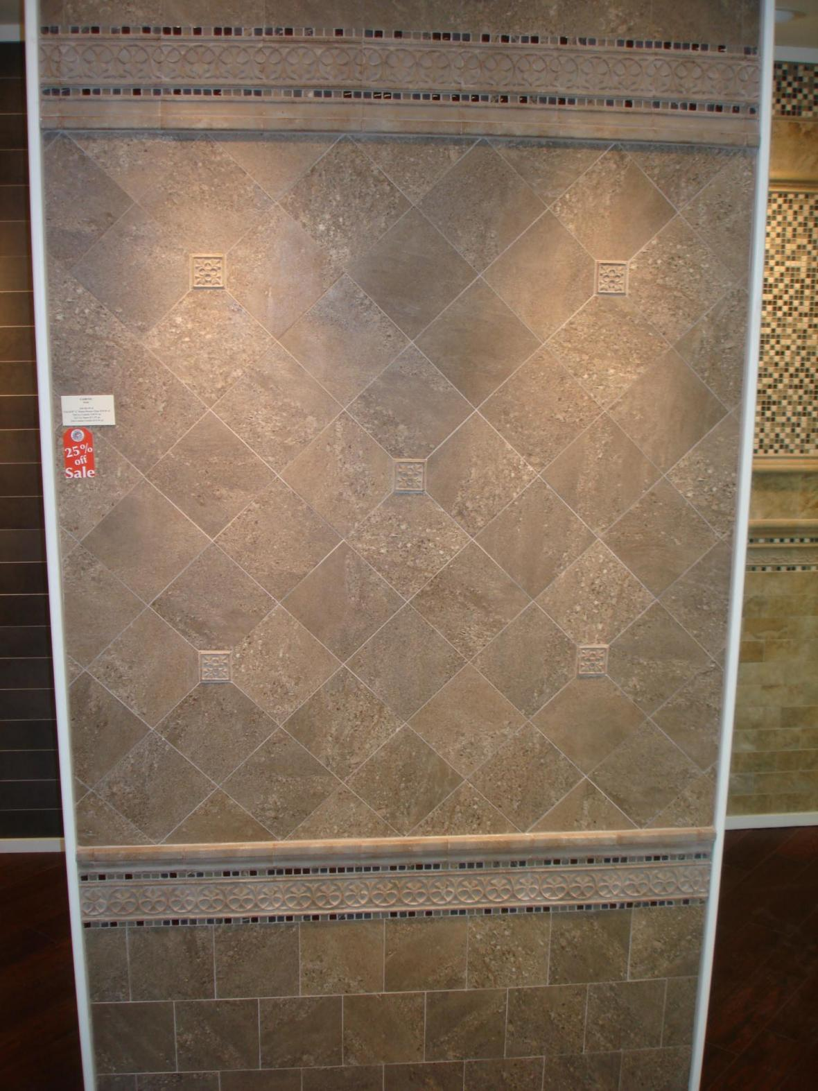 Porcelain wall tile display