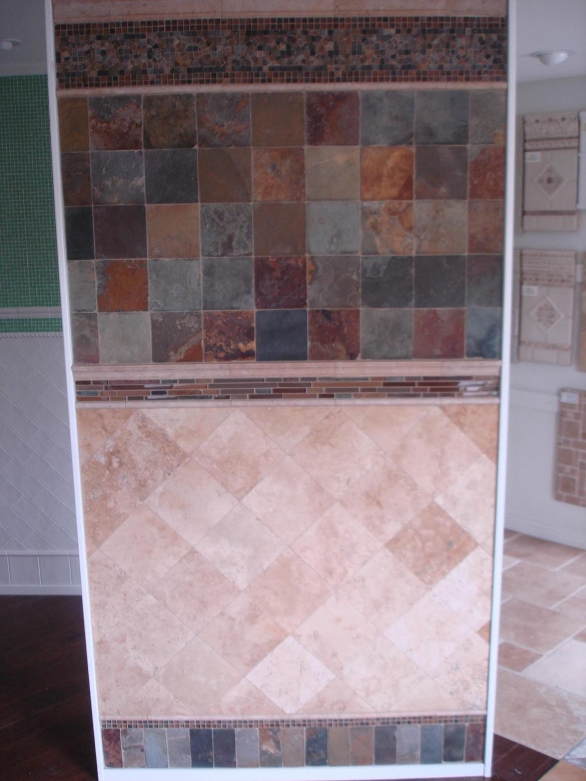 Stone tile display