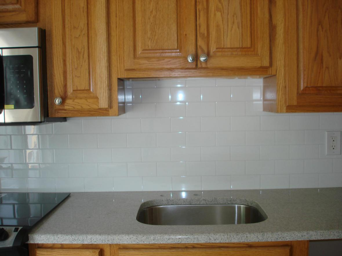 Subway tile front view