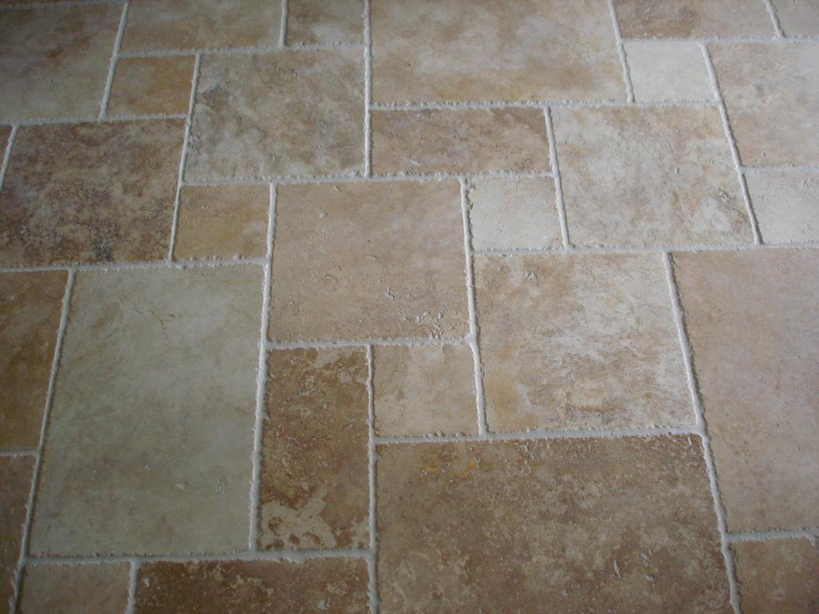 Travertine 5 tile pattern floor