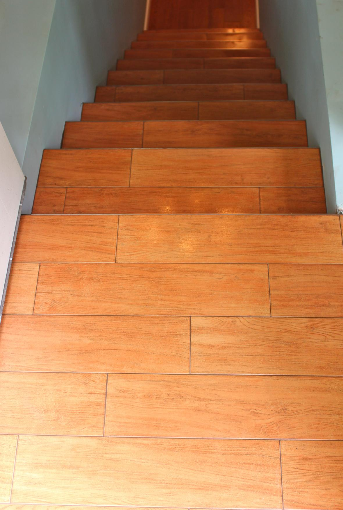 Stairs wood tile new jersey custom tile - Stairs with tile and wood ...