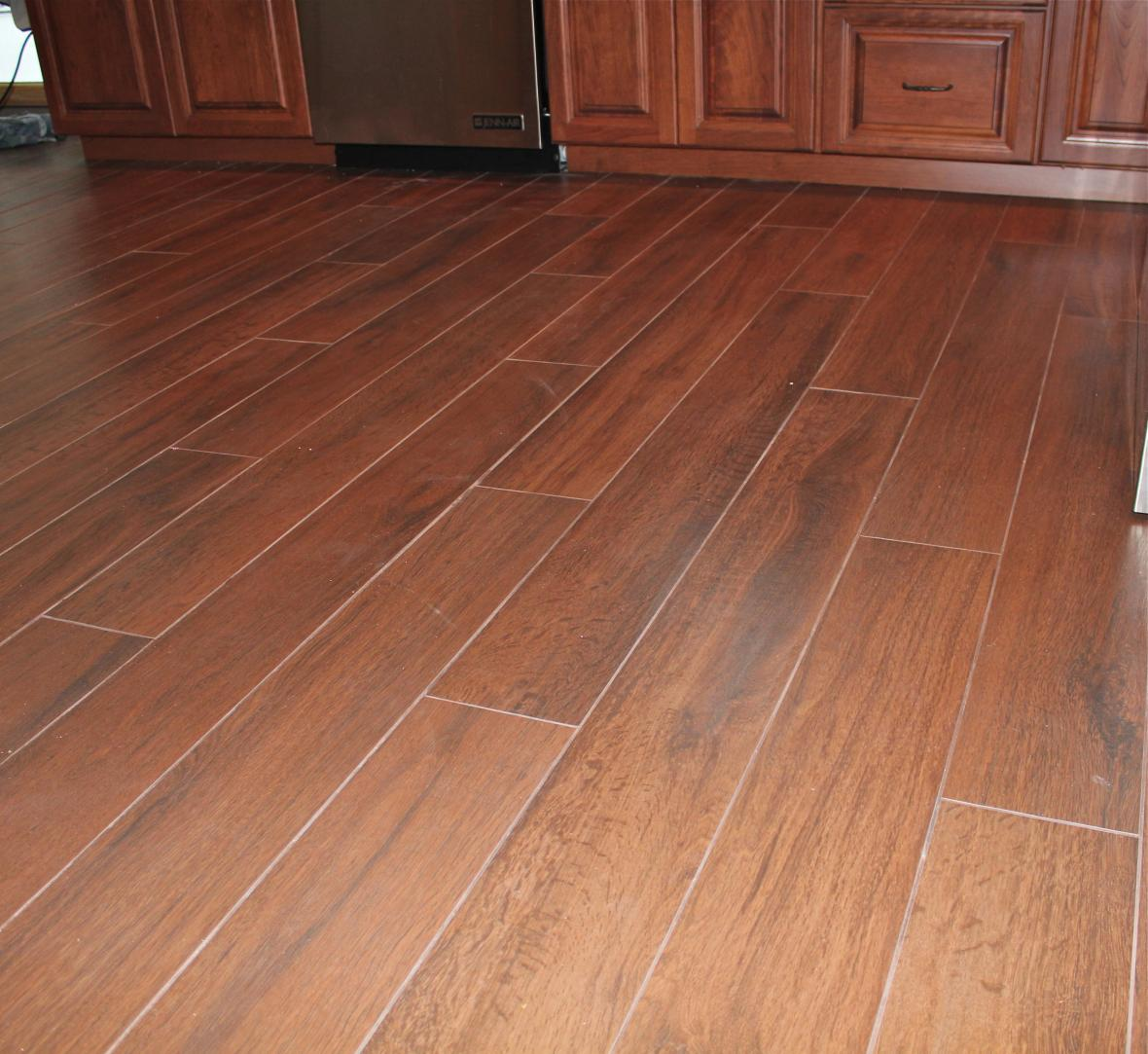 Photos Wood Tile Floor Kitchen New Jersey Custom Tile Like Dands