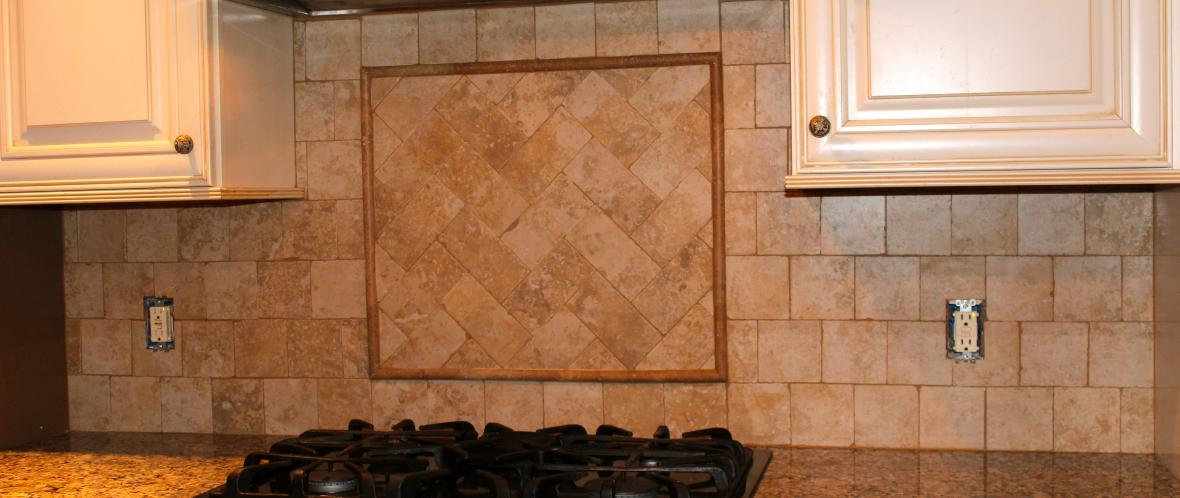 Herringbone tile pattern new jersey custom tile - Custom kitchen backsplash tiles ...