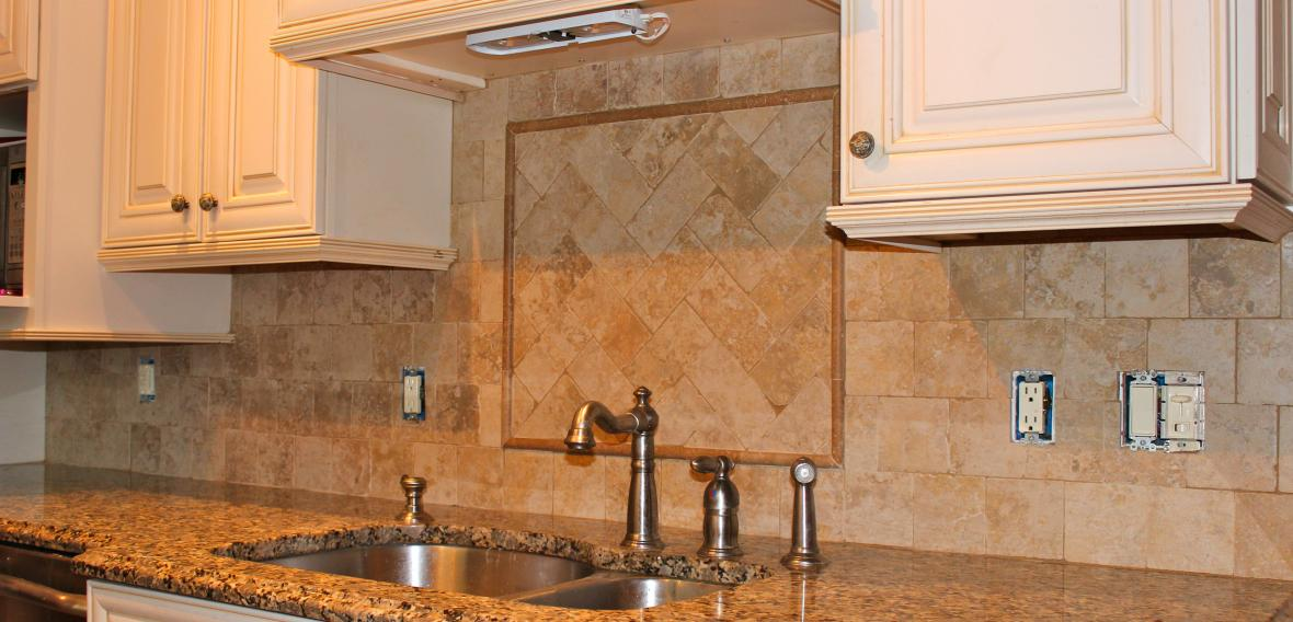 Tumbled Marble Kitchen Backsplash New Jersey Custom Tile. By ...