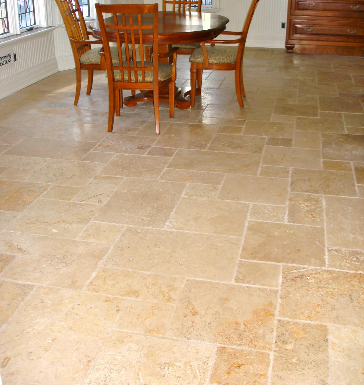 Tumble Marble Kitchen Floor New Jersey Custom Tile With Dining Room Flooring Options