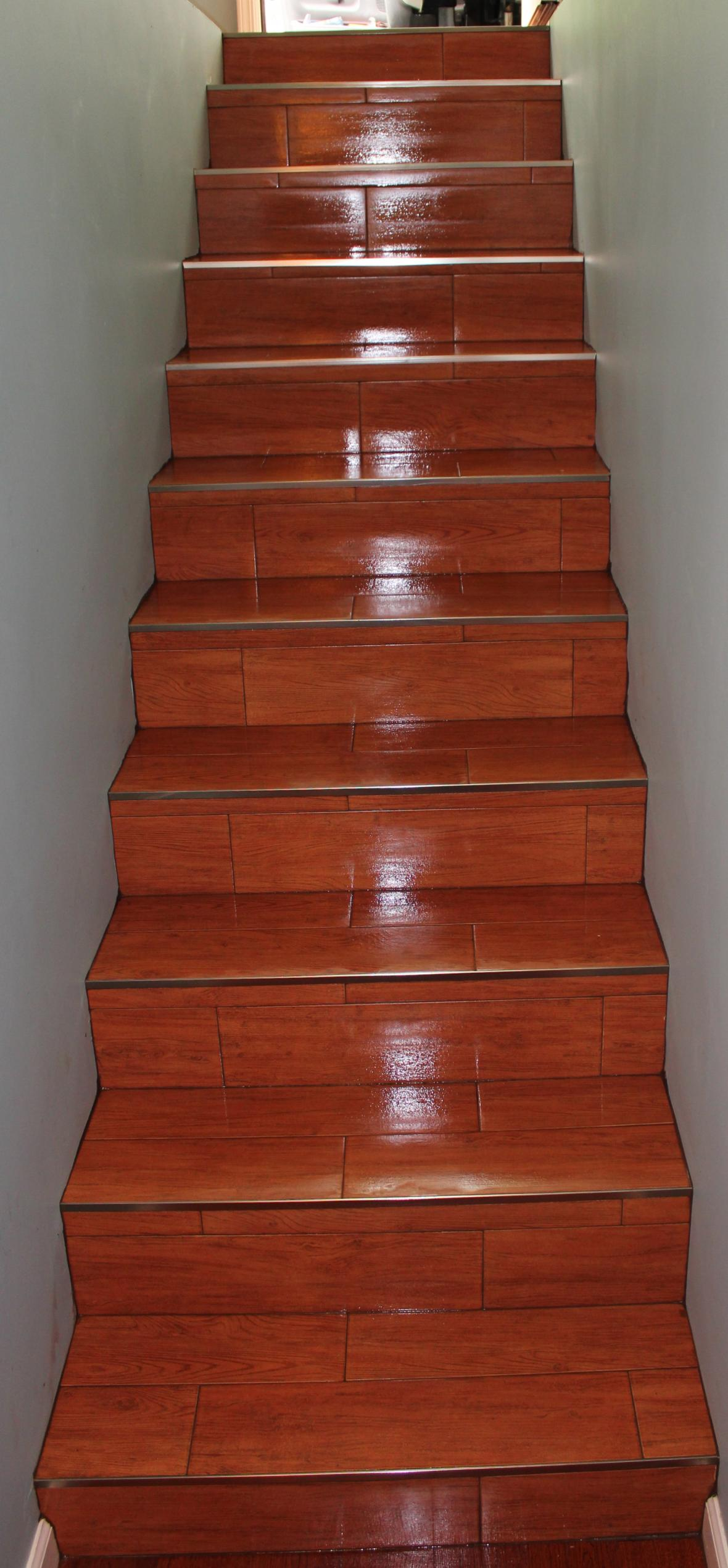 Wood Tile Stairs New Jersey Custom Tile