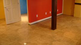 Basement tile floor