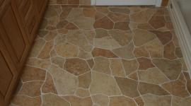 Broken tile porcelain floor