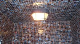 Glass mossaic steam shower