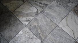 Honed marble floor