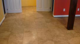 Porcelain basement tile floor