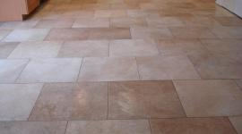 Porcelain kitchen tile floor brick pattern