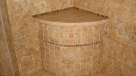 Round custom shower seat