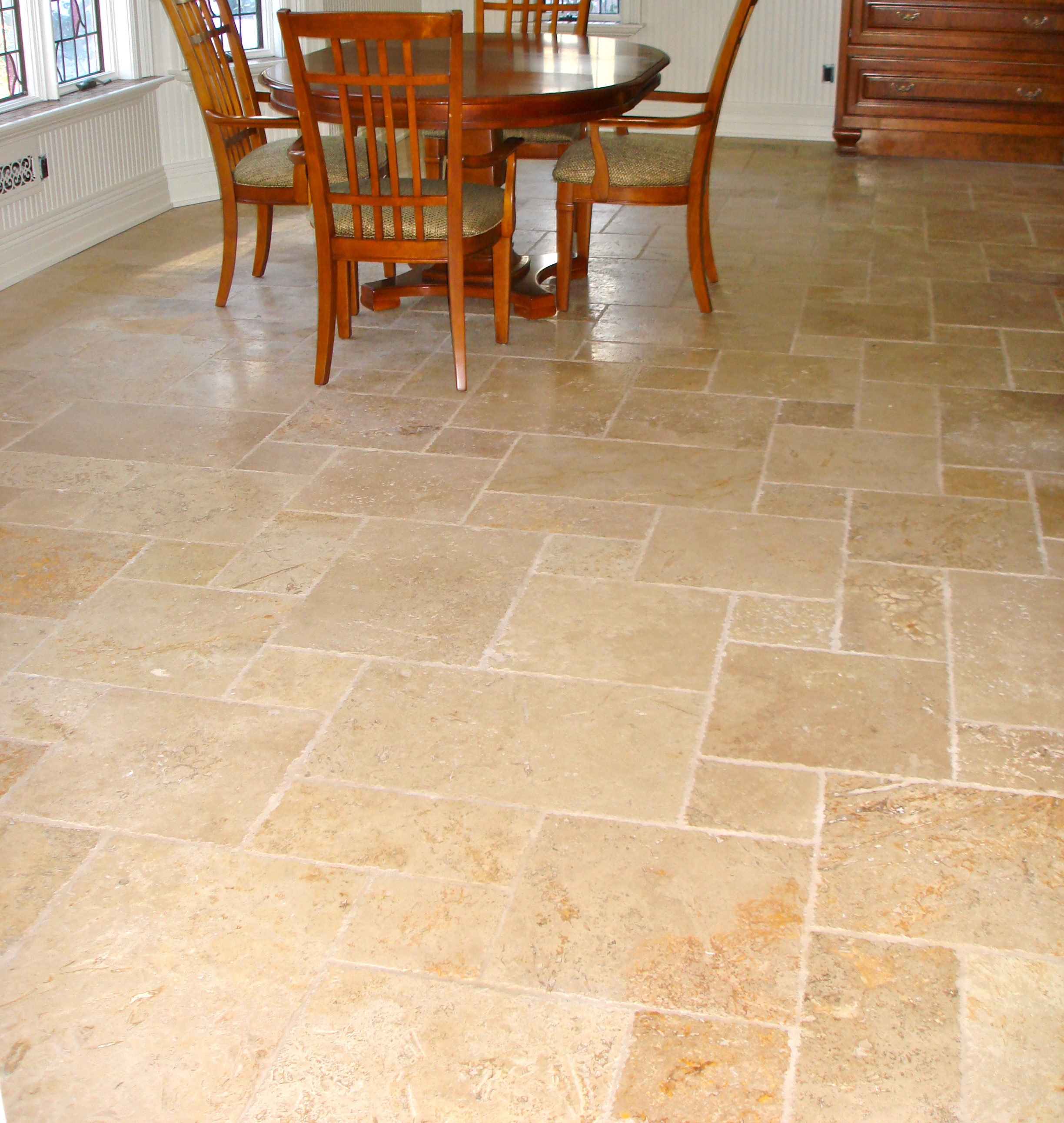 Marble Tile Kitchen Floor Tumbled Marble Kitchen Floorjpg
