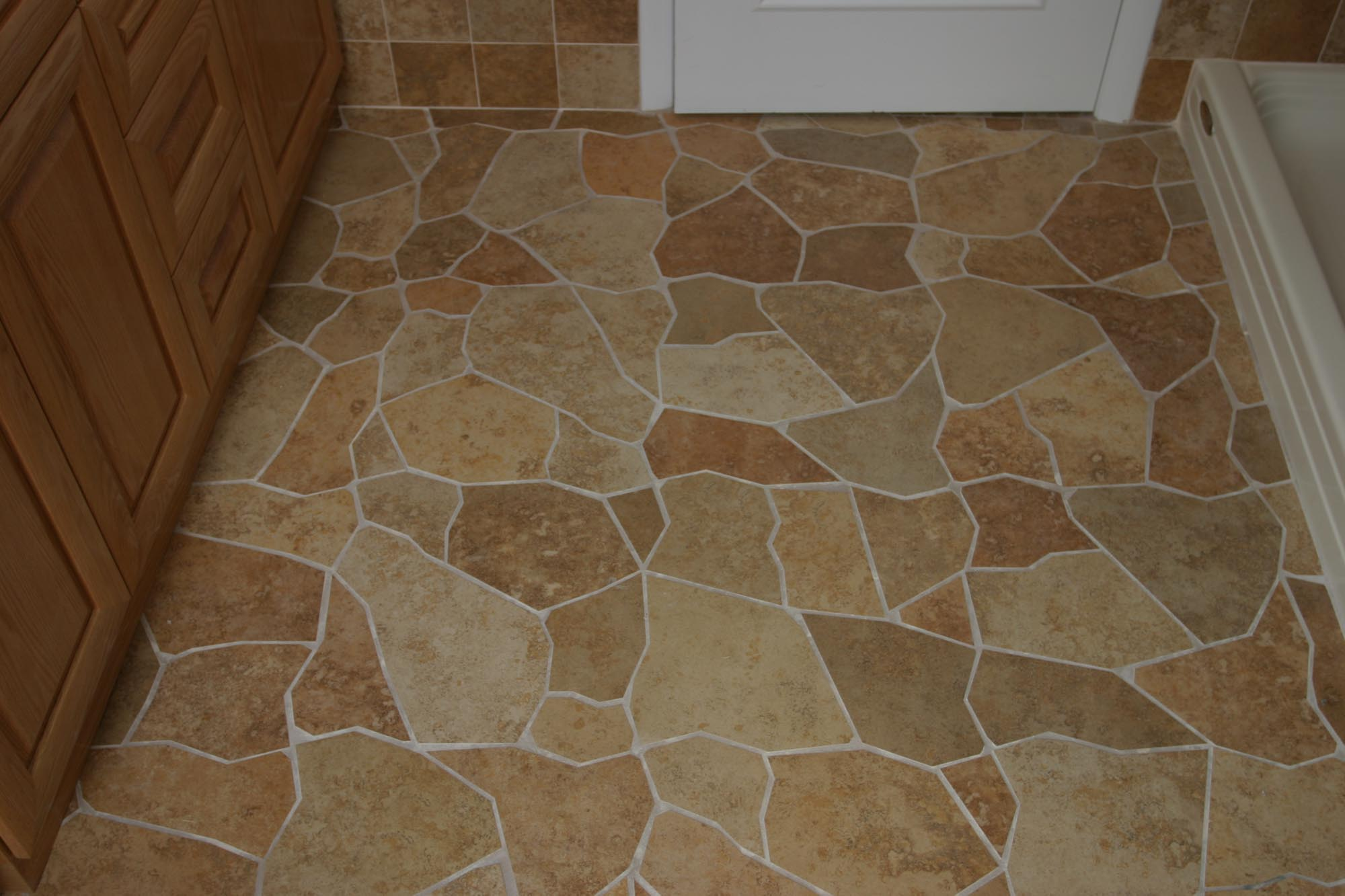 Broken Tile Porcelain Floor New Jersey Custom Tile