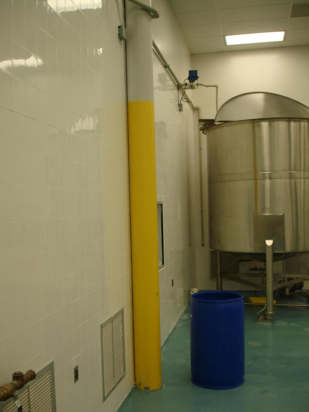 Compounding clean room wall tile