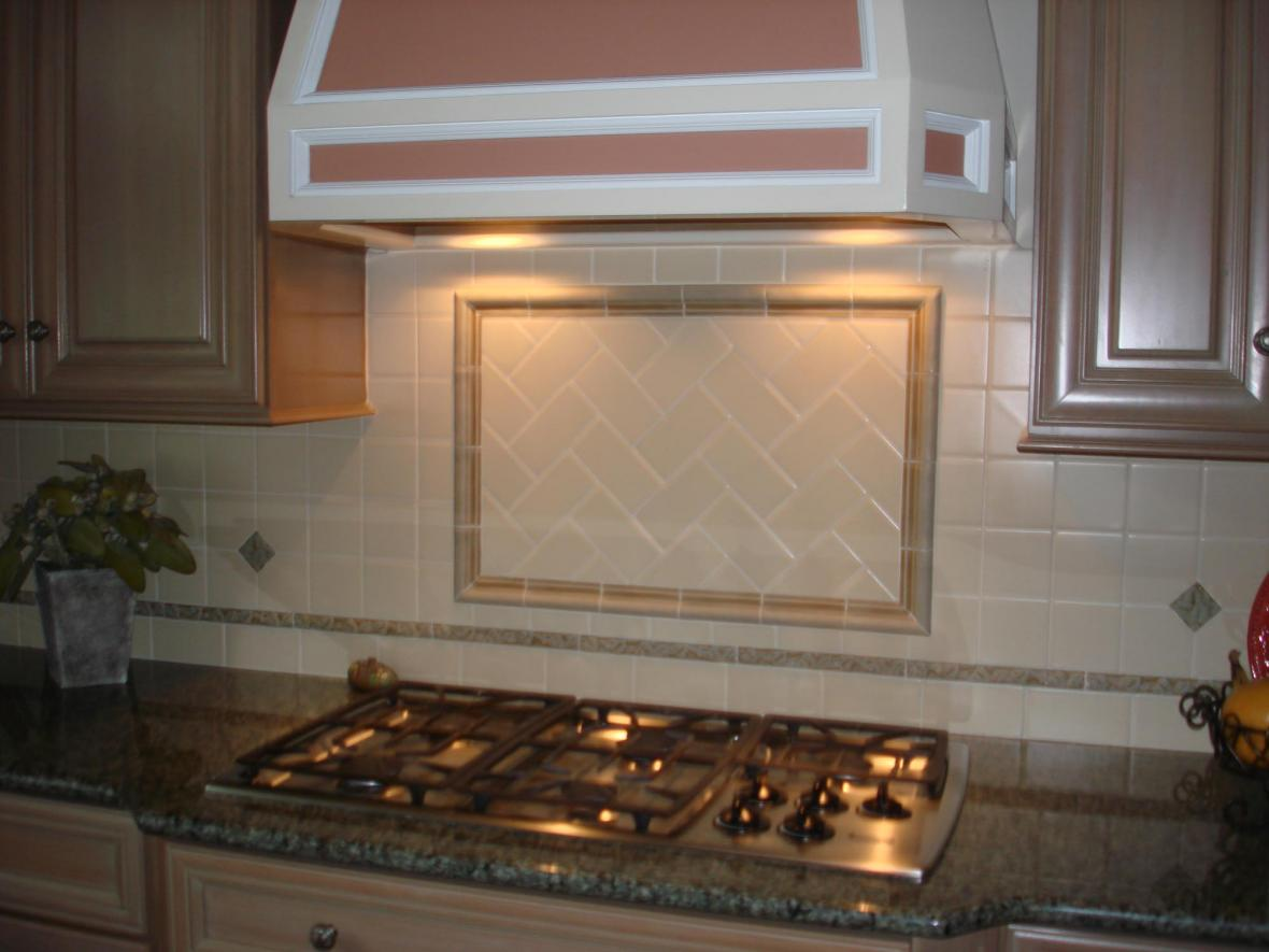 Handmade ceramic backsplash