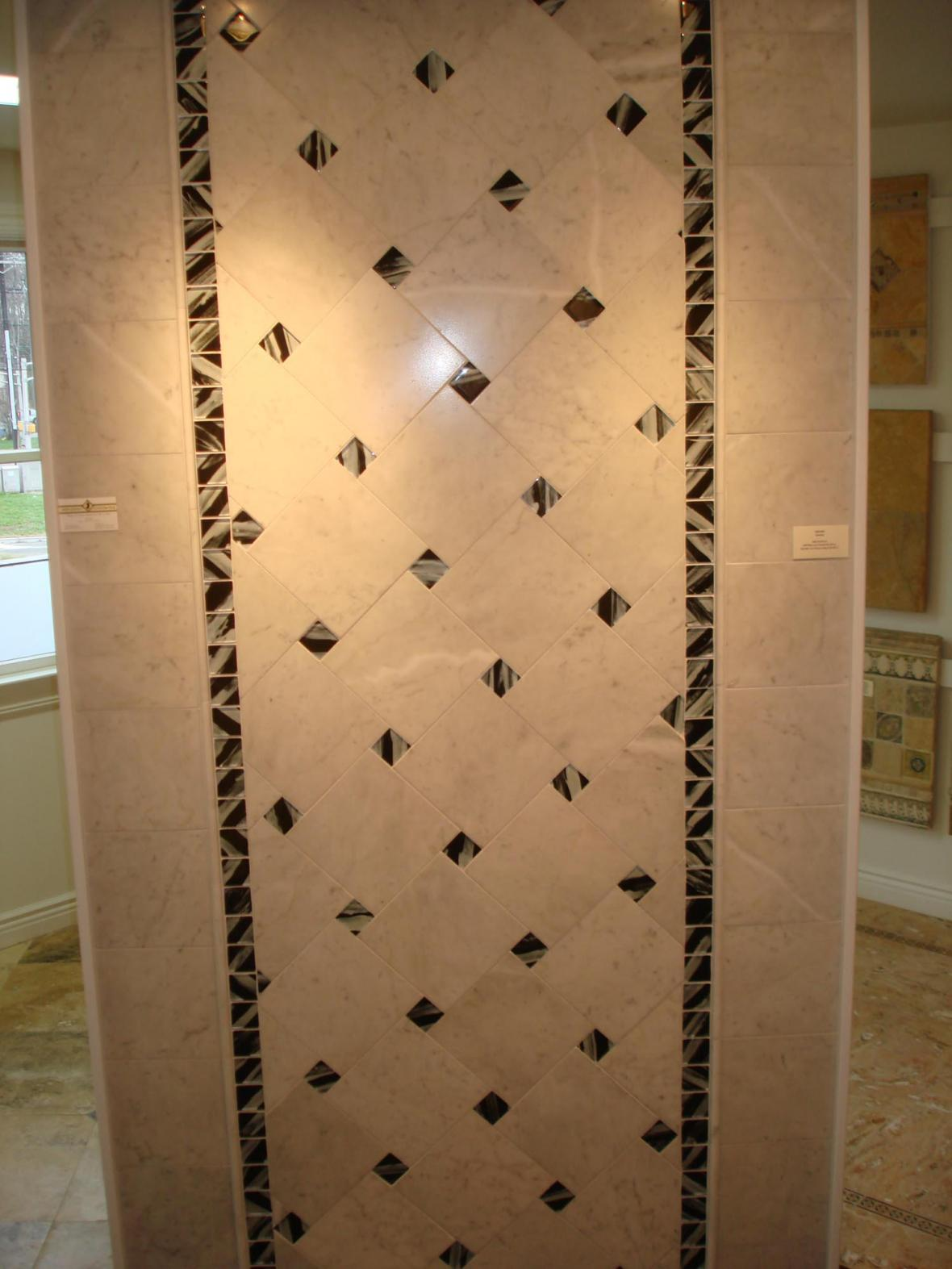 Marble and glass wall display