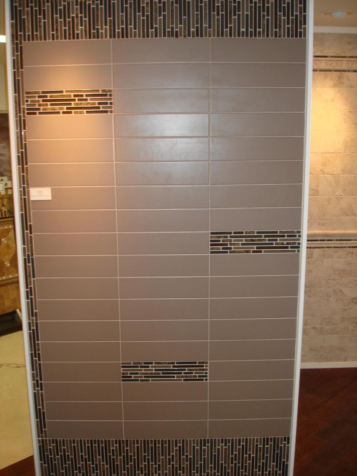 Porcelain and glass wall display