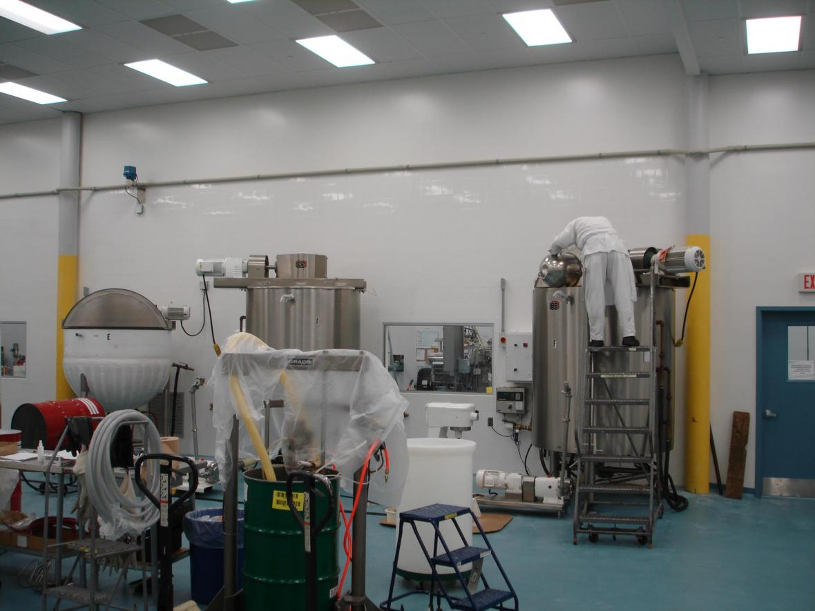 wall tile in compounding clean room