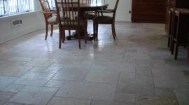 Tumbled marble floor in Kitchen